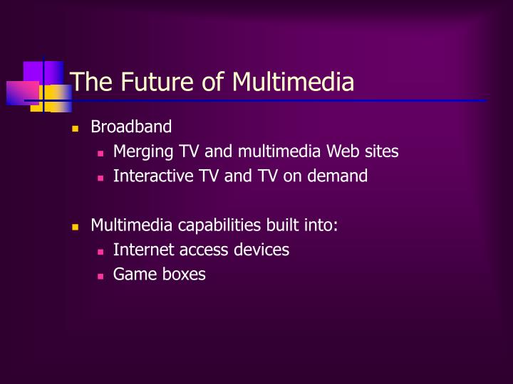 The Future of Multimedia