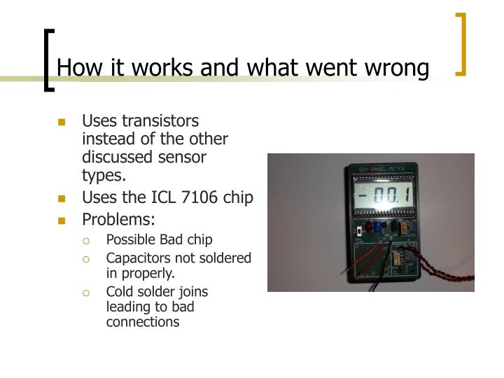 How it works and what went wrong