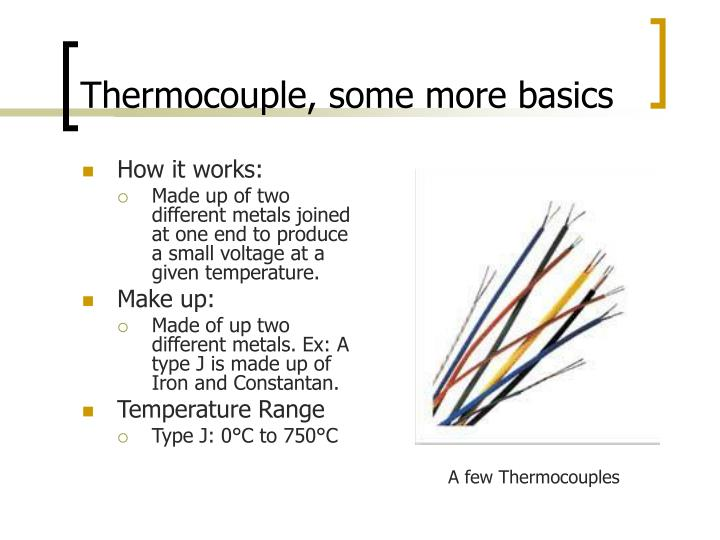 Thermocouple, some more basics