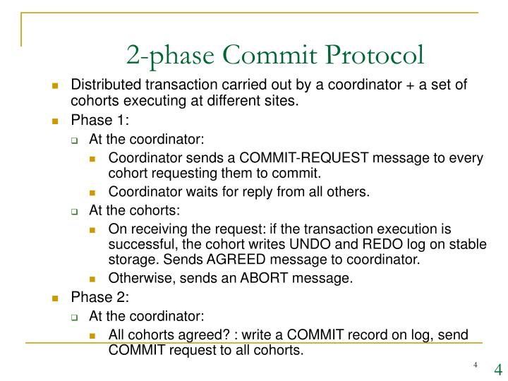2-phase Commit Protocol