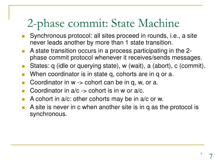 2-phase commit: State Machine