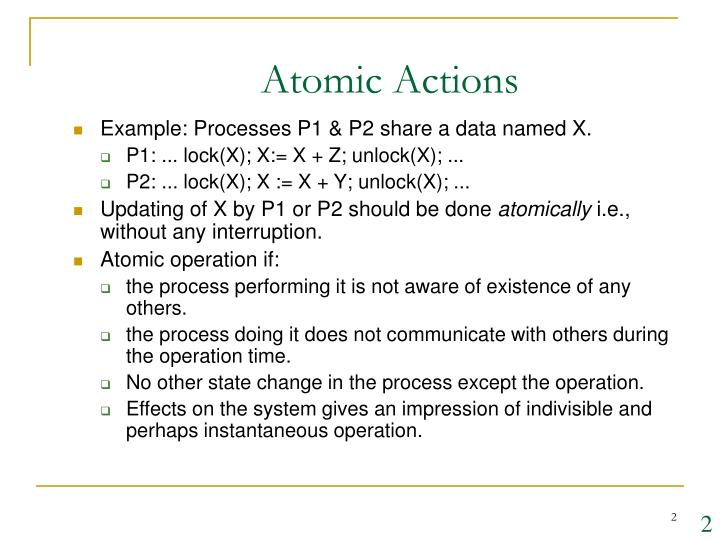 Atomic Actions
