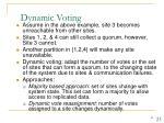 dynamic voting