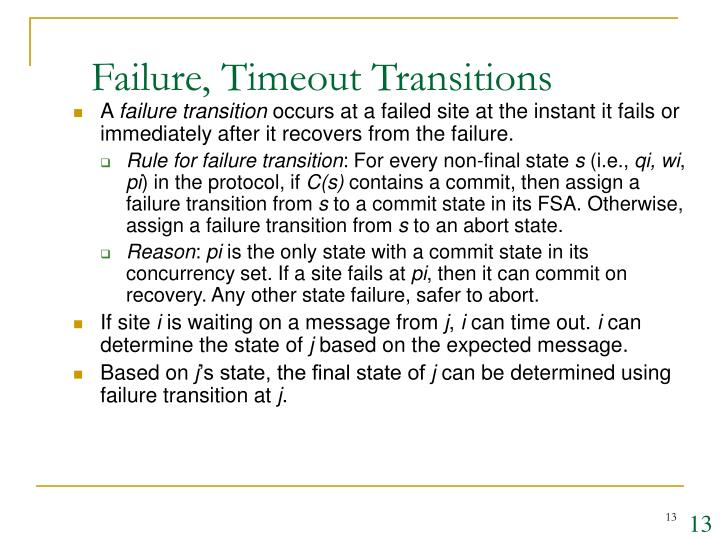 Failure, Timeout Transitions