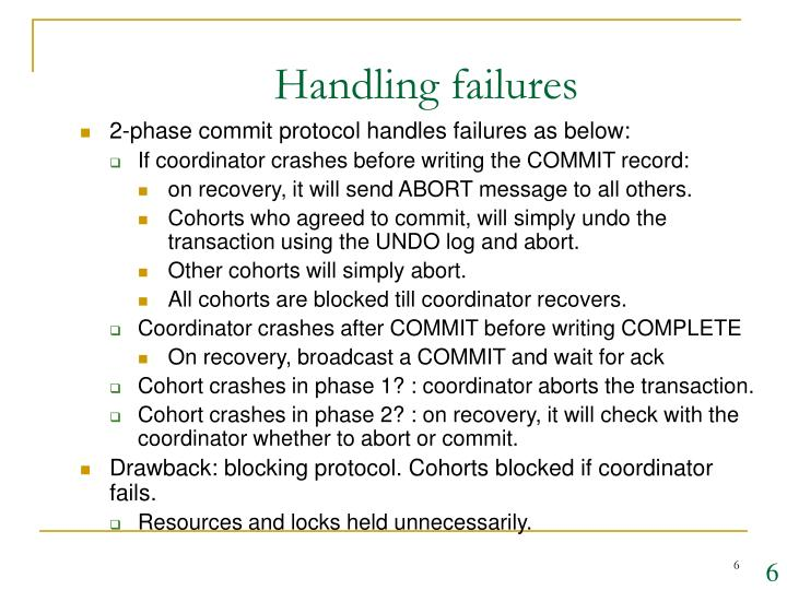 Handling failures