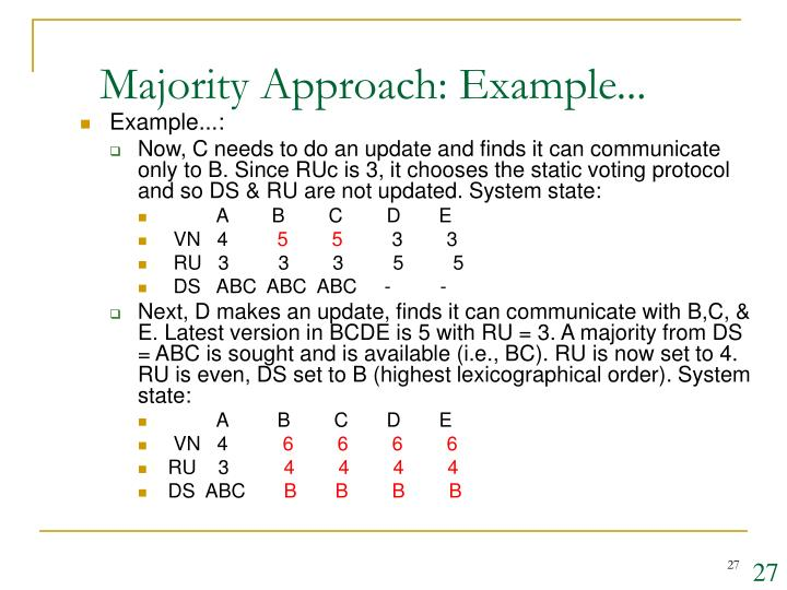 Majority Approach: Example...