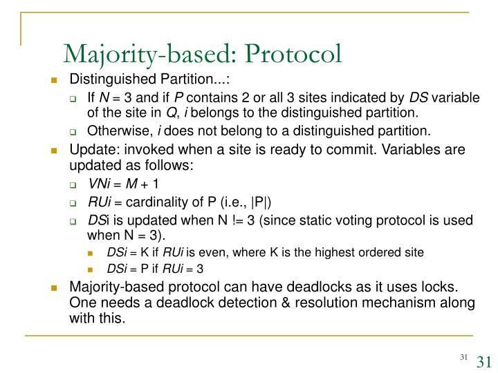 Majority-based: Protocol