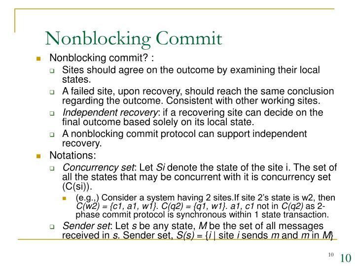 Nonblocking Commit