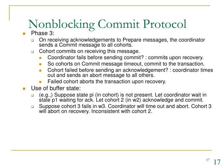 Nonblocking Commit Protocol