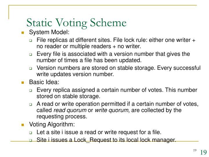 Static Voting Scheme