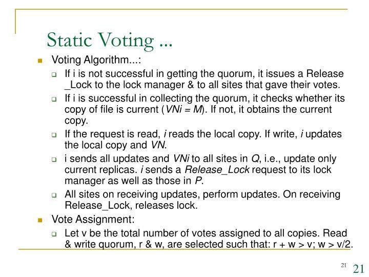 Static Voting ...