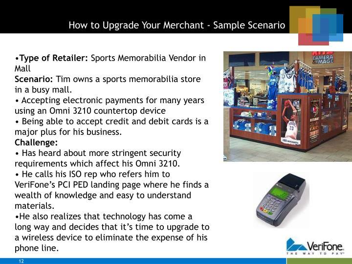 How to Upgrade Your Merchant - Sample Scenario