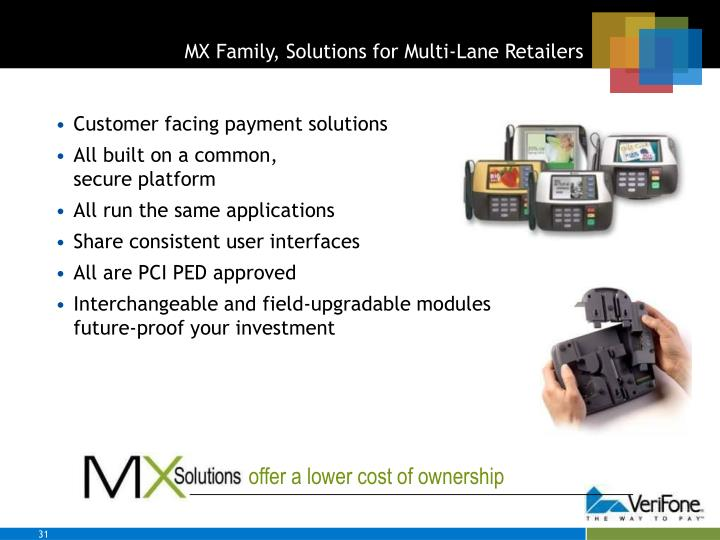 MX Family, Solutions for Multi-Lane Retailers