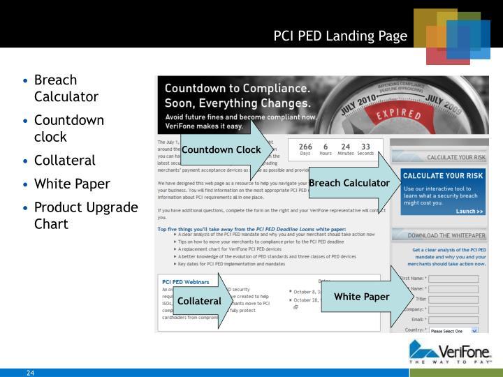 PCI PED Landing Page