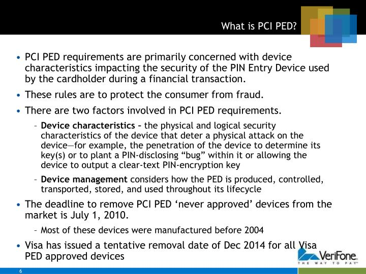 What is PCI PED?