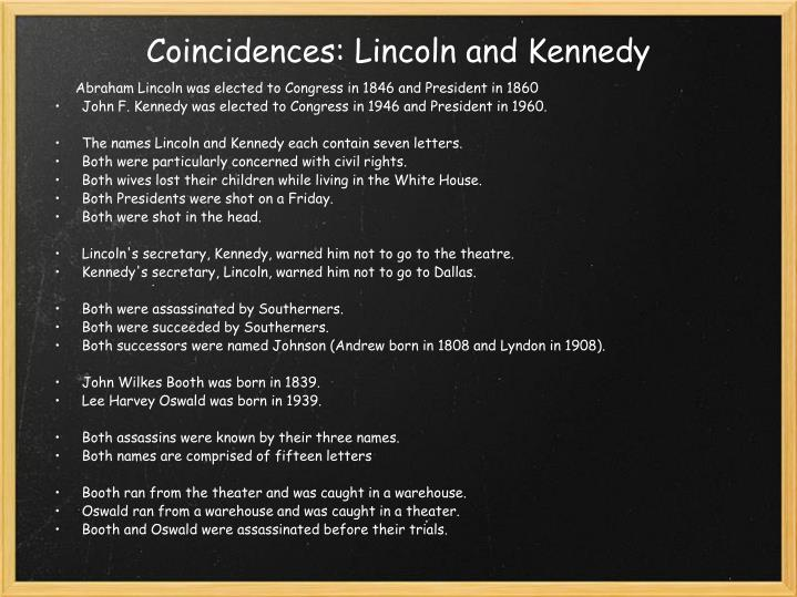 Coincidences: Lincoln and Kennedy