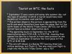 tourist on wtc the facts