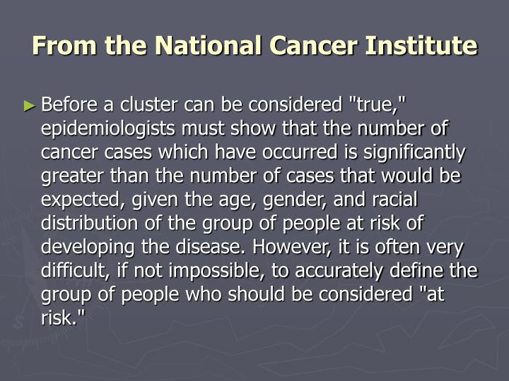 From the National Cancer Institute