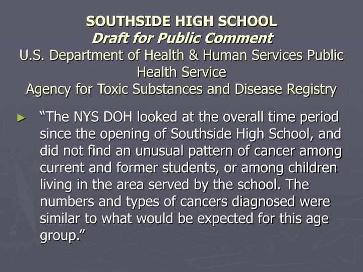 SOUTHSIDE HIGH SCHOOL