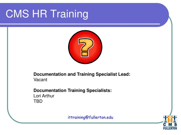 CMS HR Training
