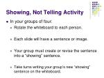 showing not telling activity