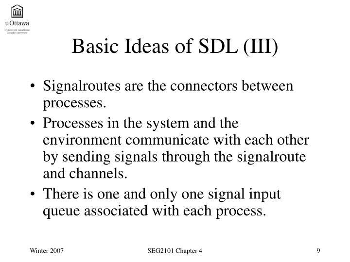 Basic Ideas of SDL (III)