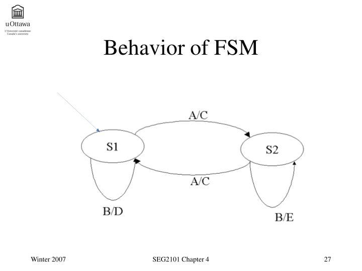 Behavior of FSM