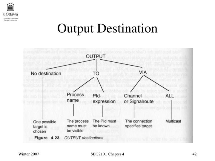 Output Destination