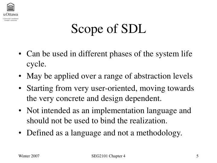 Scope of SDL