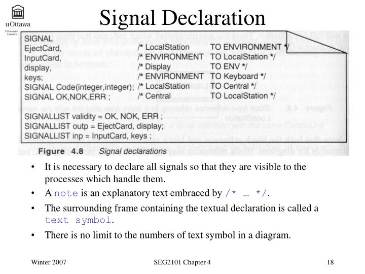 Signal Declaration