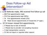 does follow up aid intervention
