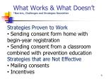 what works what doesn t barriers challenges and strategies newsletter