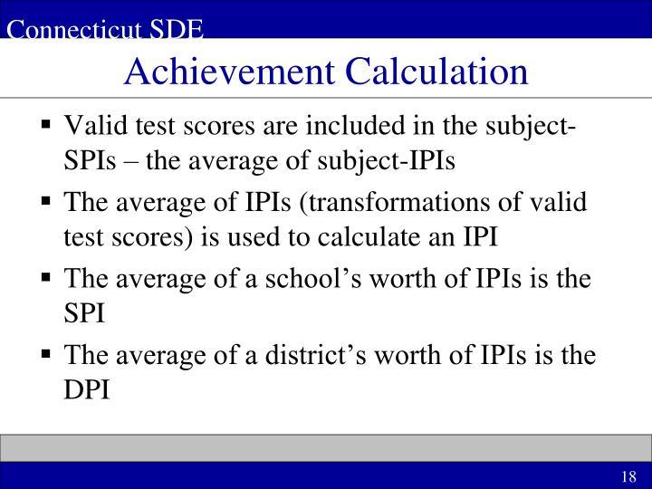 Achievement Calculation