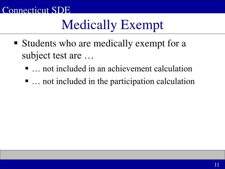Medically Exempt