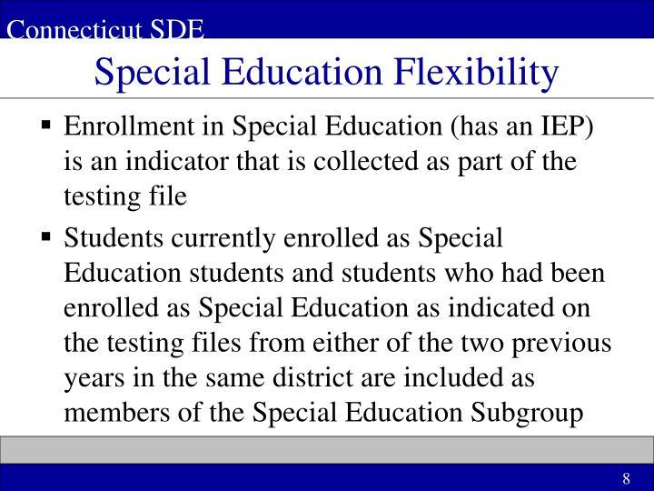 Special Education Flexibility