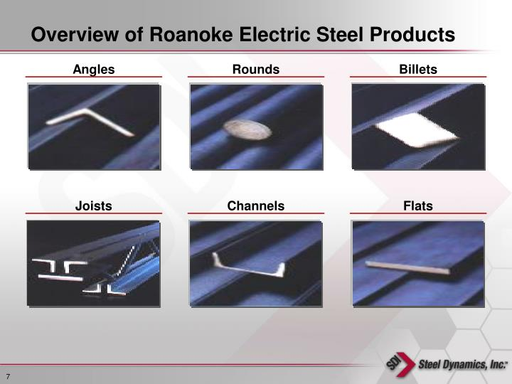 Overview of Roanoke Electric Steel Products
