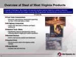 overview of steel of west virginia products