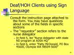 deaf hoh clients using sign language1