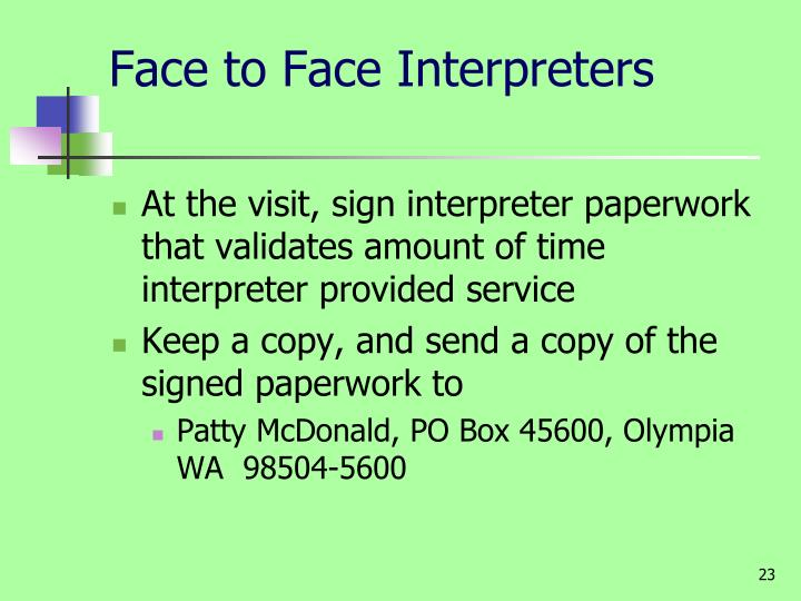 Face to Face Interpreters