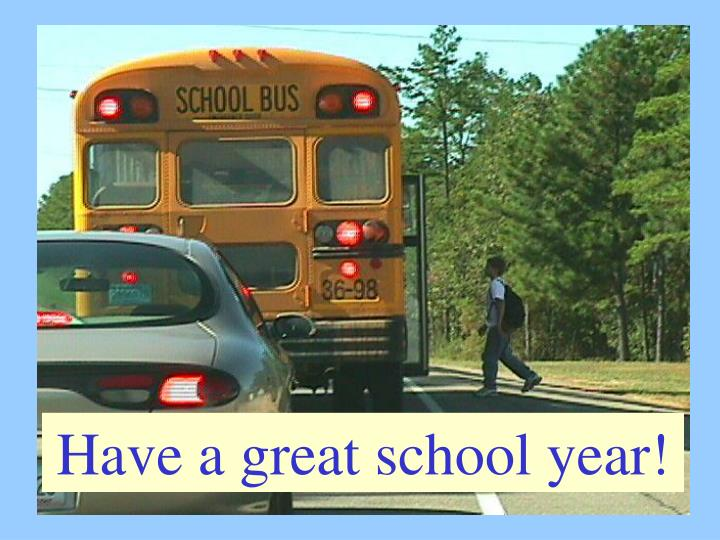 Have a great school year!