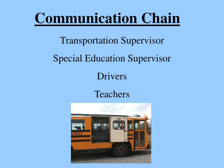 Communication Chain