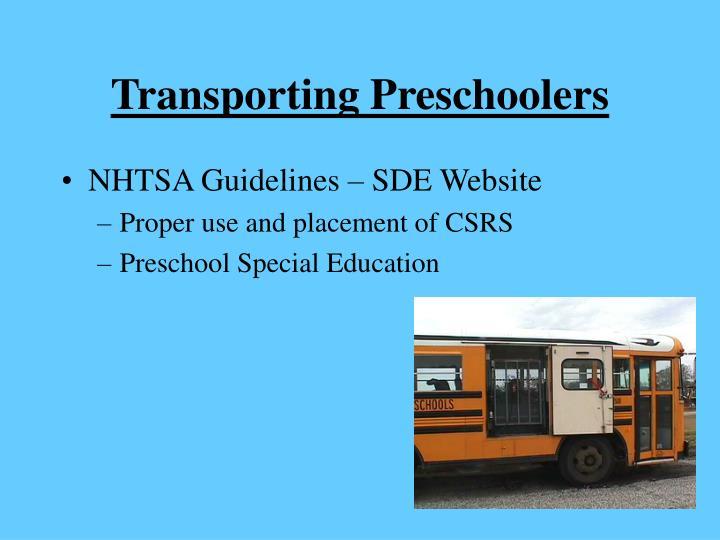 Transporting Preschoolers
