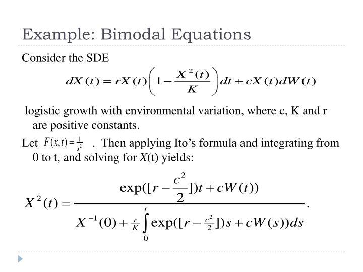 Example: Bimodal Equations