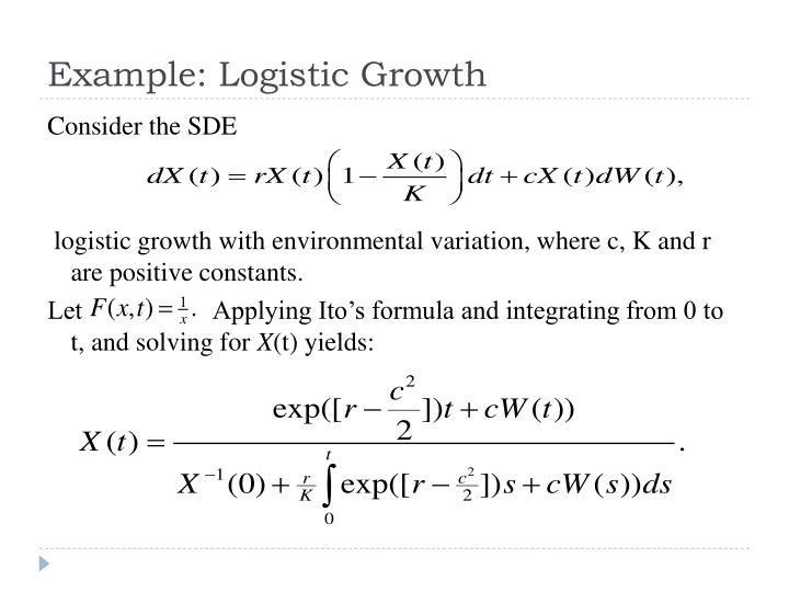Example: Logistic Growth