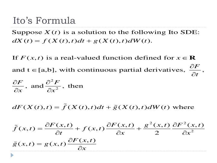 Ito's Formula