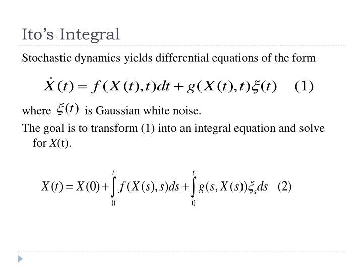 Ito's Integral