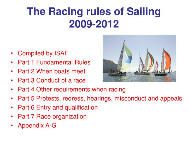 The Racing rules of Sailing  2009-2012