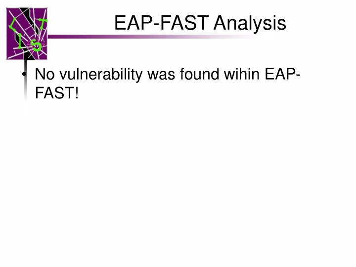 EAP-FAST Analysis