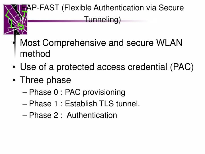 EAP-FAST (Flexible Authentication via Secure Tunneling)