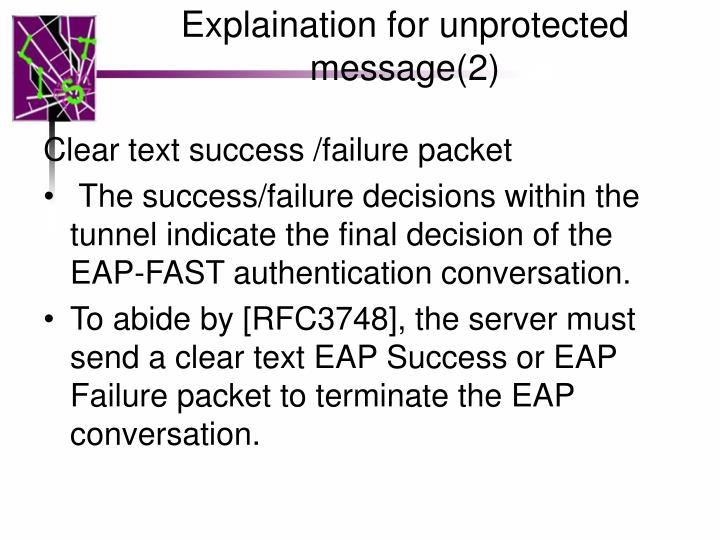 Explaination for unprotected message(2)